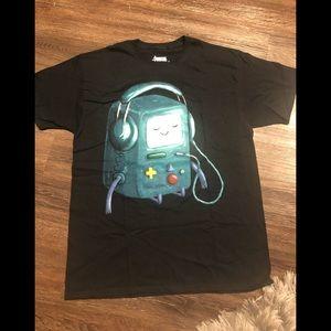 🔥 Adventure Time T-shirt Black NET cotton L